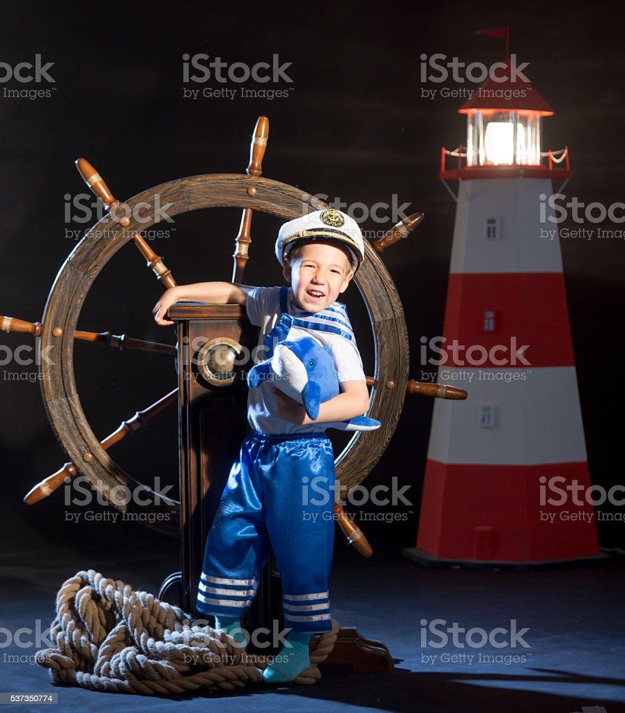 Funny Little Sailor stock photo