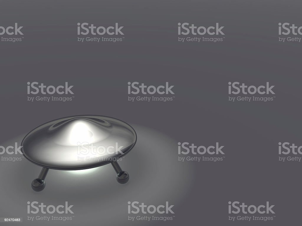 Funny little UFO Version 1 royalty-free stock photo