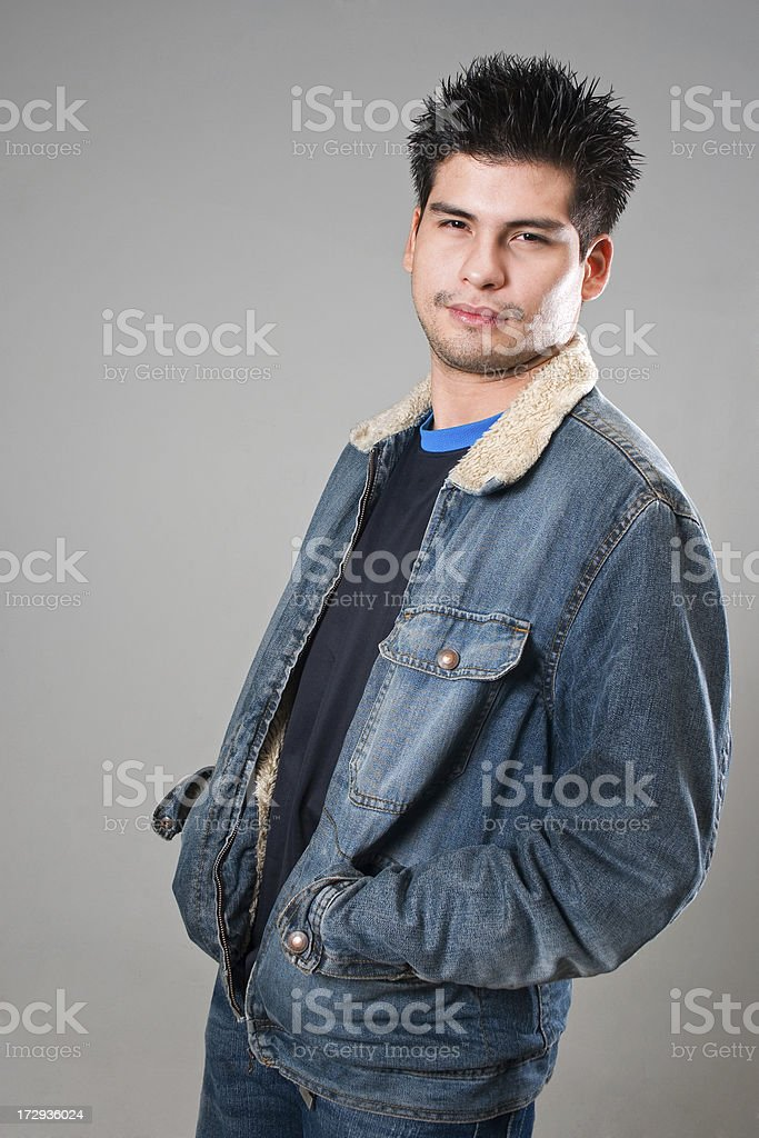 Funny looking guy royalty-free stock photo