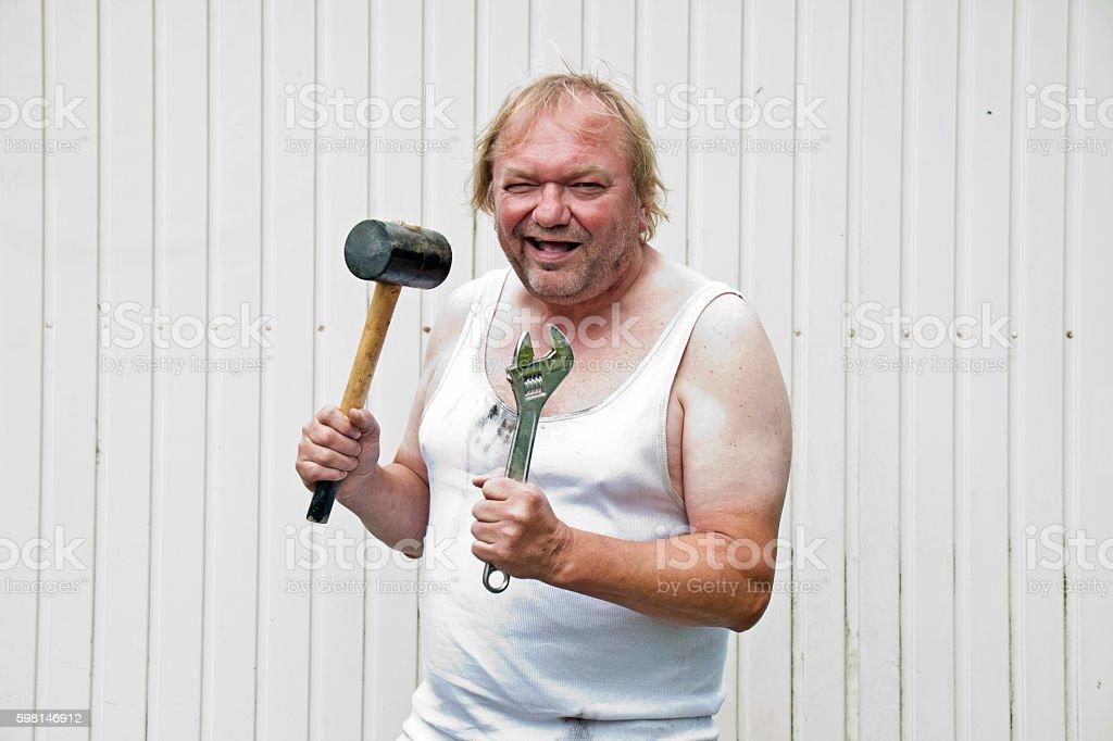 Funny Mechanic stock photo
