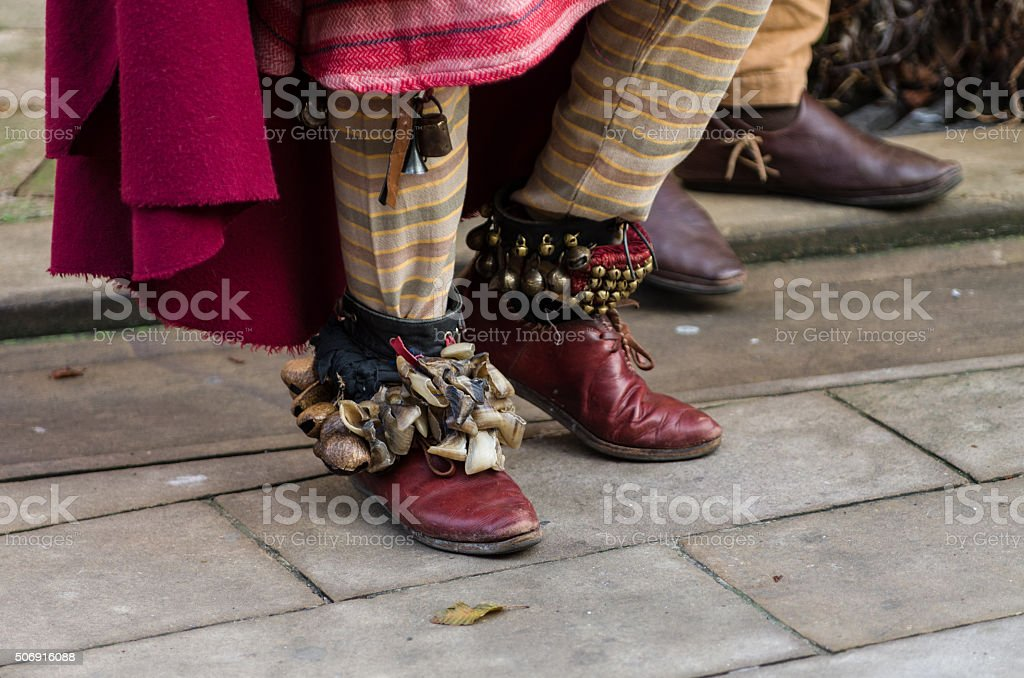 Funny medioeval shoes stock photo
