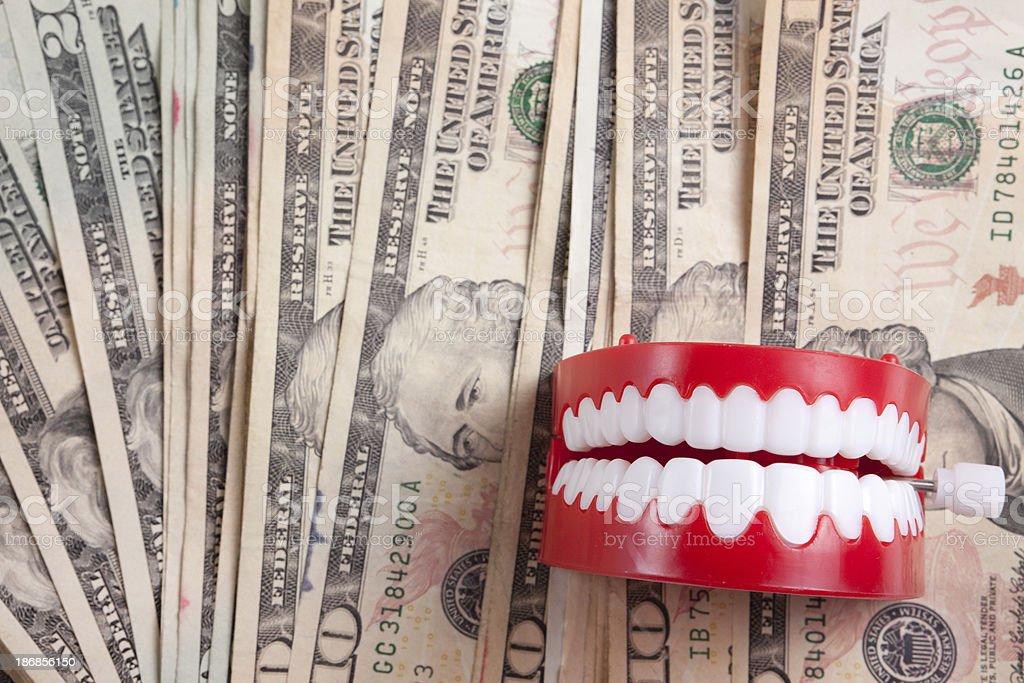 Funny Money stock photo