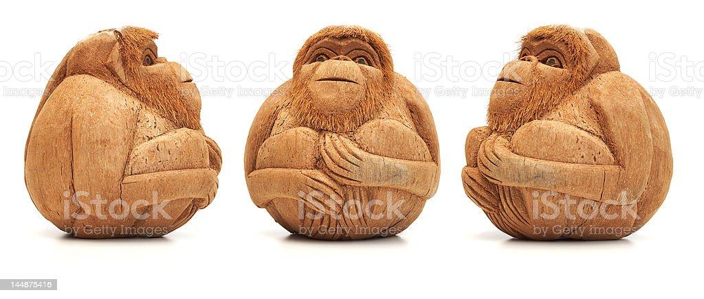 Funny monkey figure royalty-free stock photo