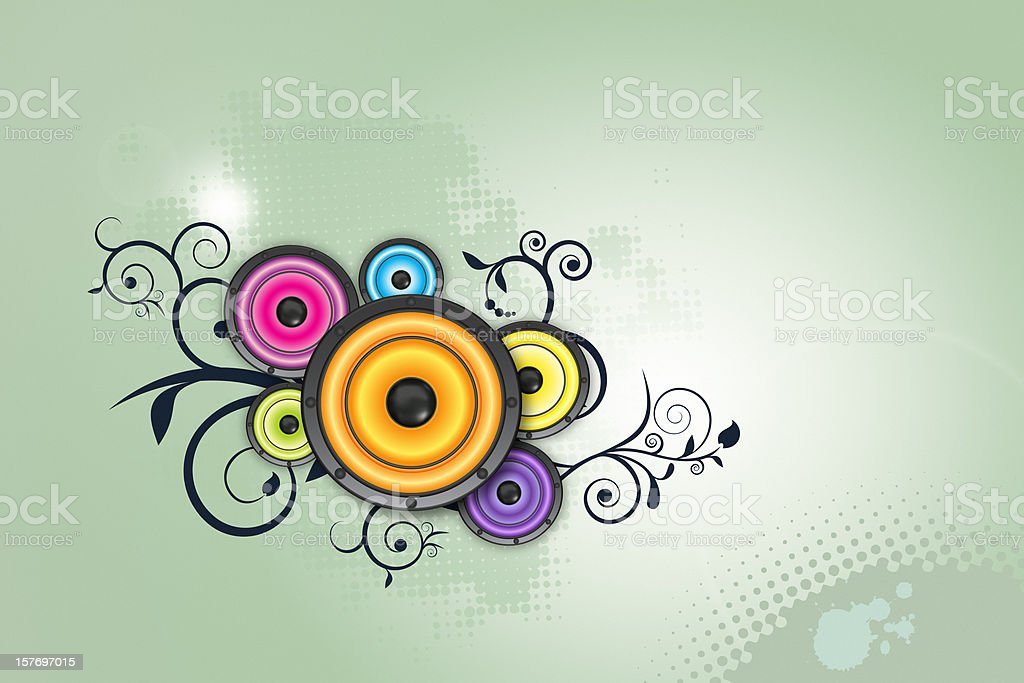 Funny music background royalty-free stock photo