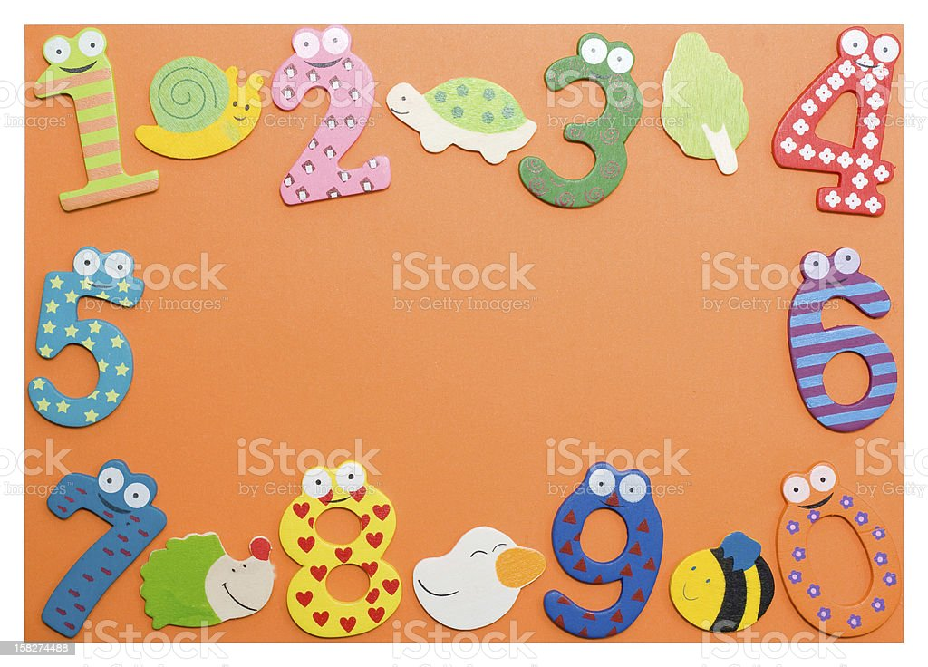 Funny number royalty-free stock photo