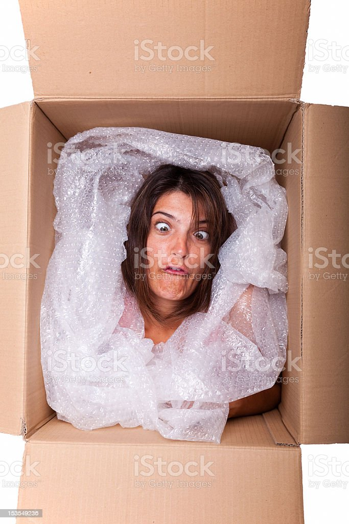 Funny package stock photo