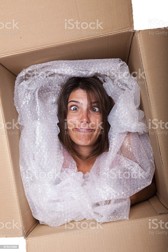 Funny package royalty-free stock photo
