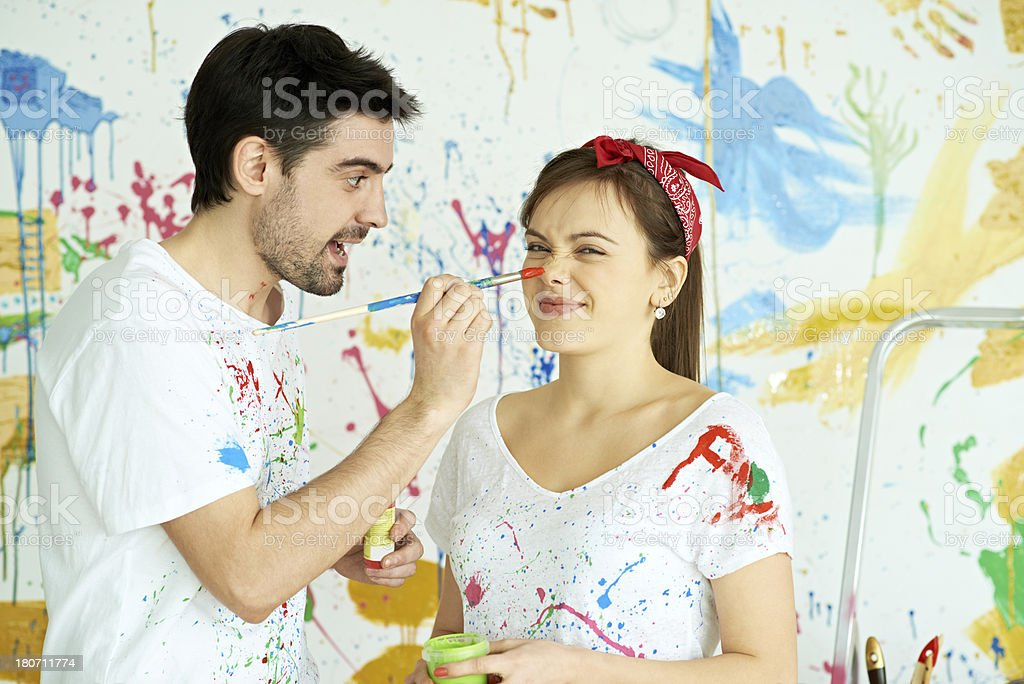 Funny paintings royalty-free stock photo