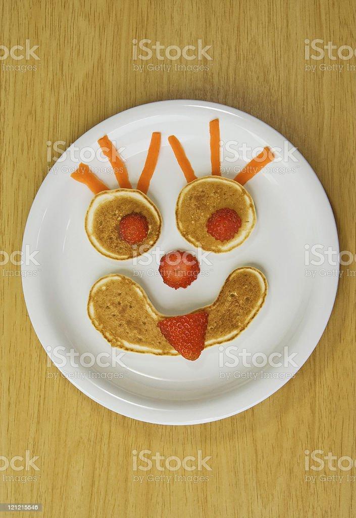 Funny Pancake Breakfast Smile royalty-free stock photo