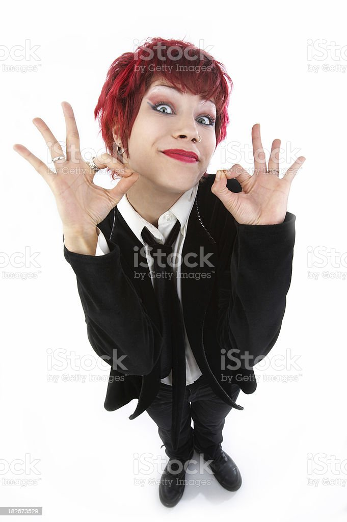 Funny people royalty-free stock photo