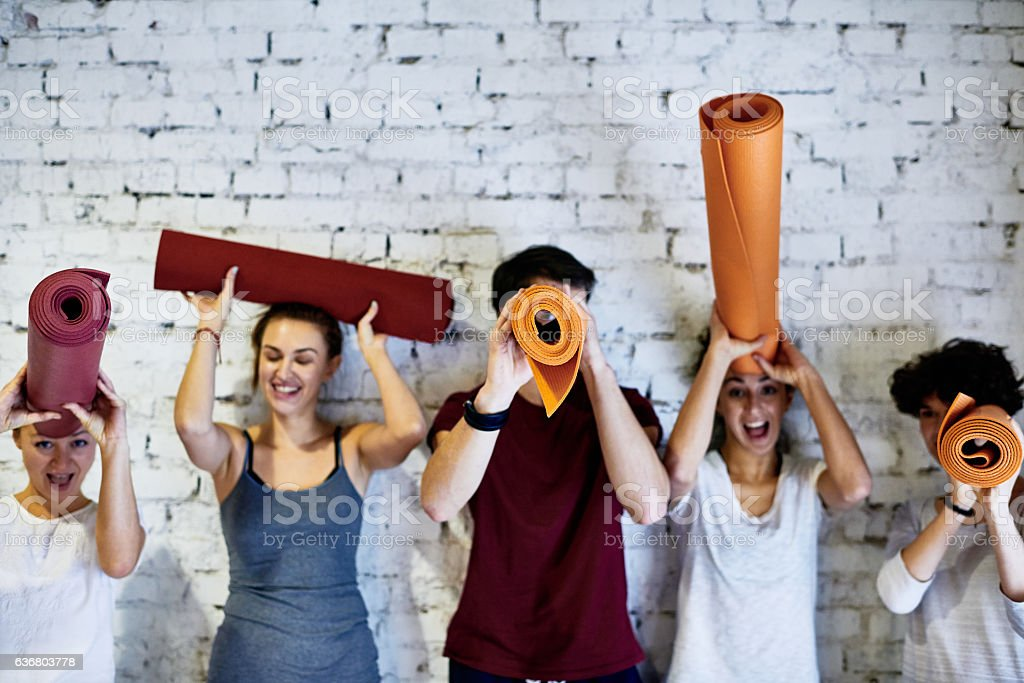Funny people stock photo