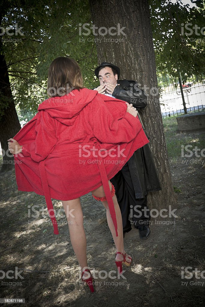 funny perverted girl stock photo