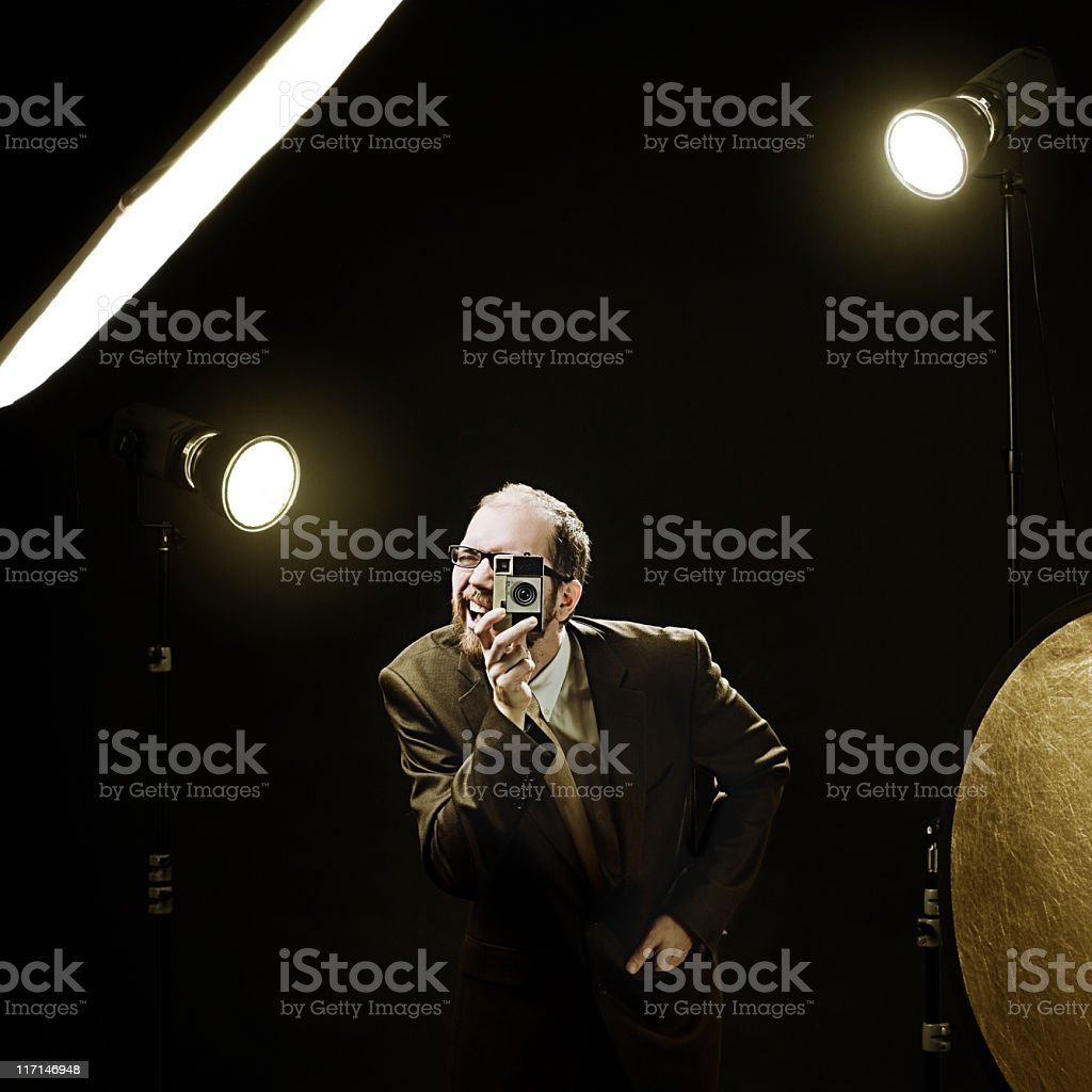 Funny photographer royalty-free stock photo