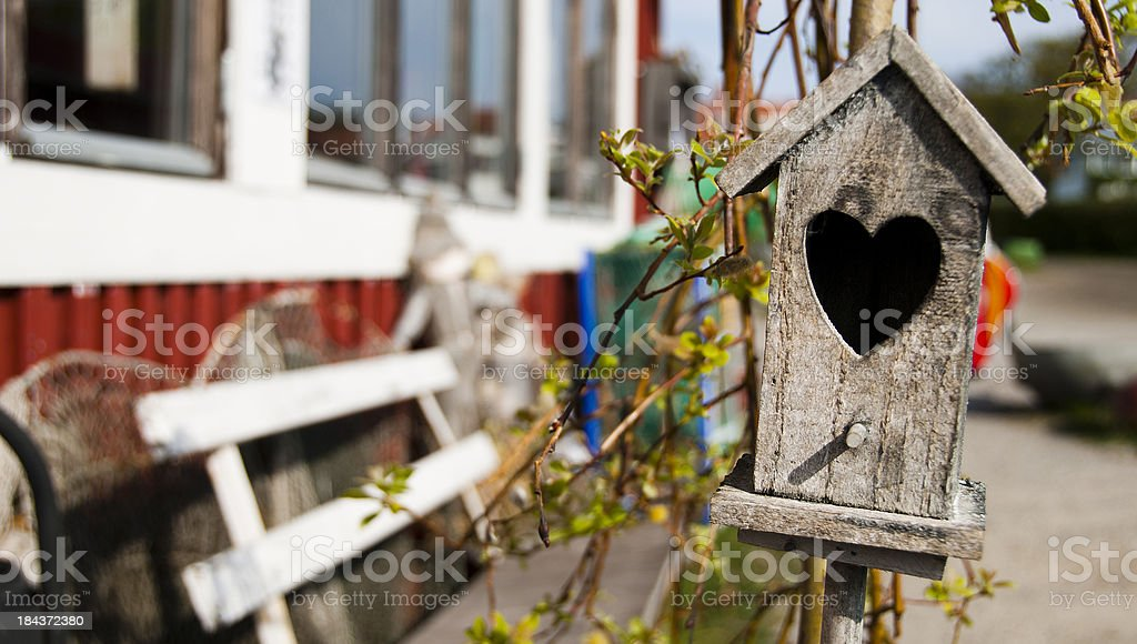 Funny pic os a birdhouse royalty-free stock photo