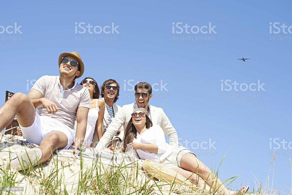 Funny picnic royalty-free stock photo