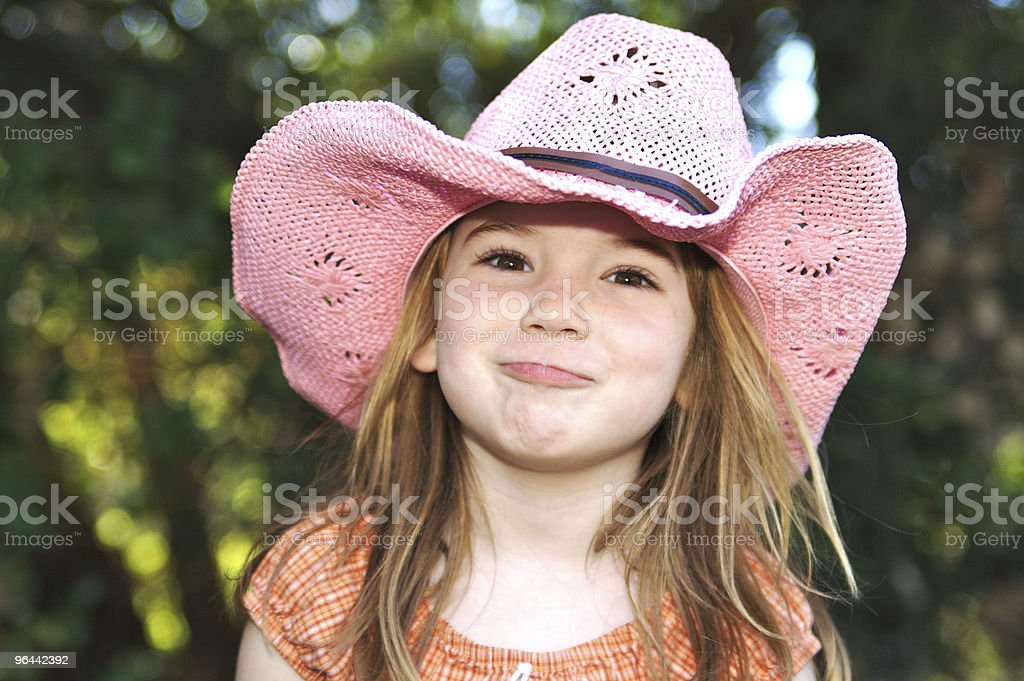 Funny  Pink Cowgirl stock photo