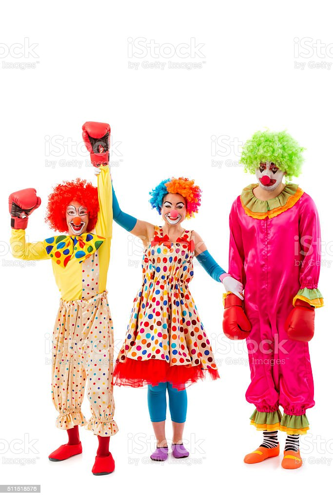 Funny playful clown stock photo