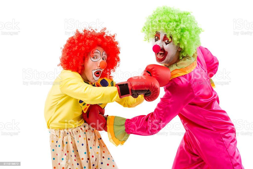 Funny playful clown stock photo