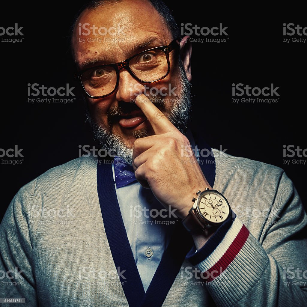 Funny Portrait of a Man stock photo