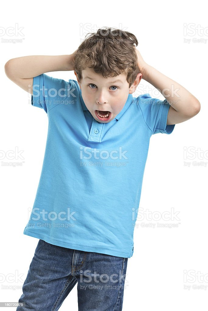 funny portrait of small boy royalty-free stock photo
