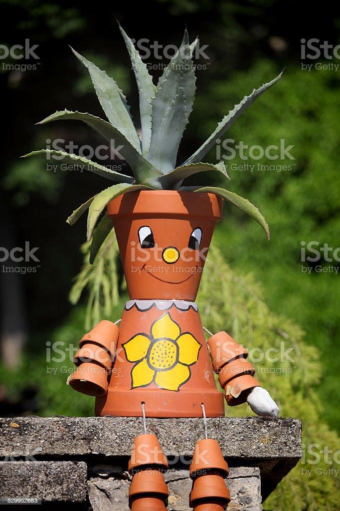 Funny potsherd stock photo