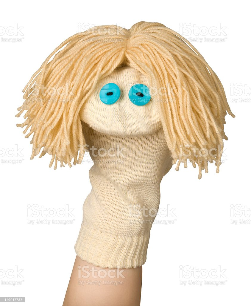 Funny puppet stock photo