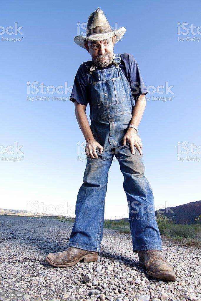 Funny Redneck stock photo