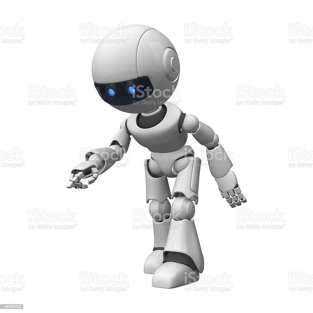 Funny robot stock photo