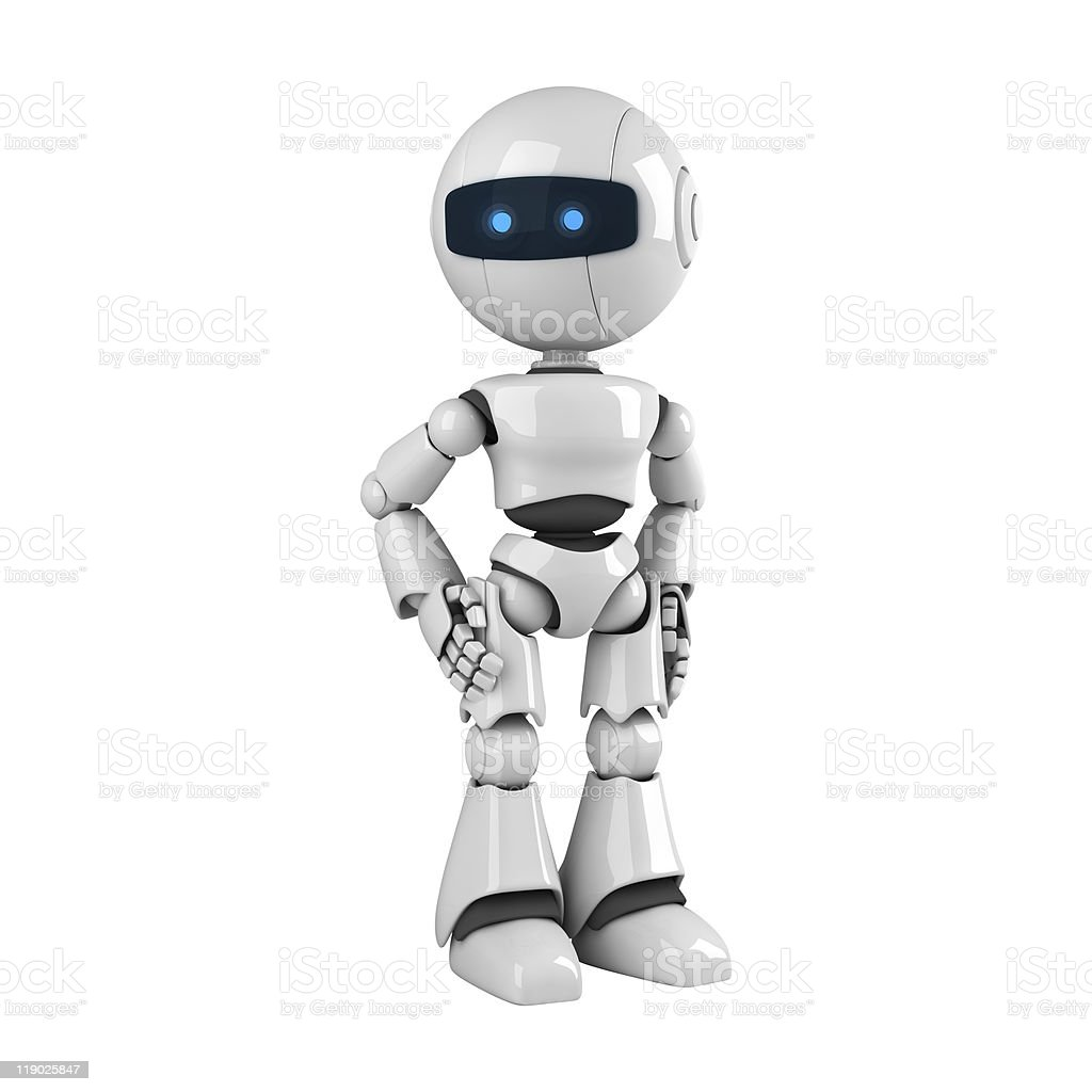Funny robot stay royalty-free stock photo