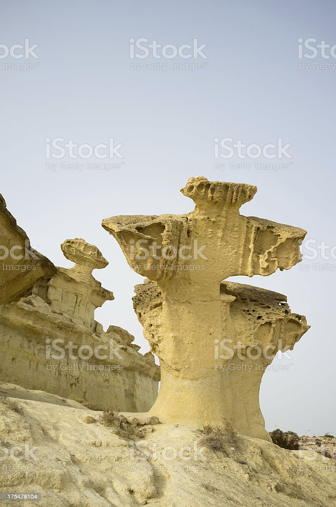 Funny rock formation stock photo