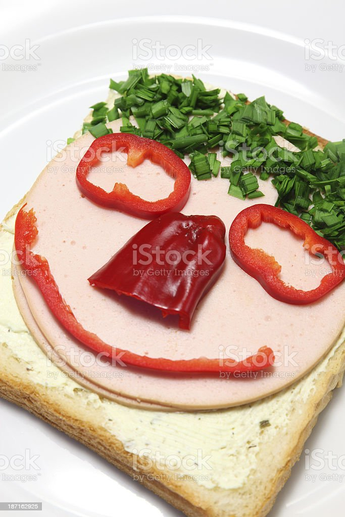 Funny Sandwich Face royalty-free stock photo