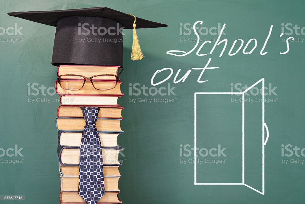 Funny school holiday concept stock photo