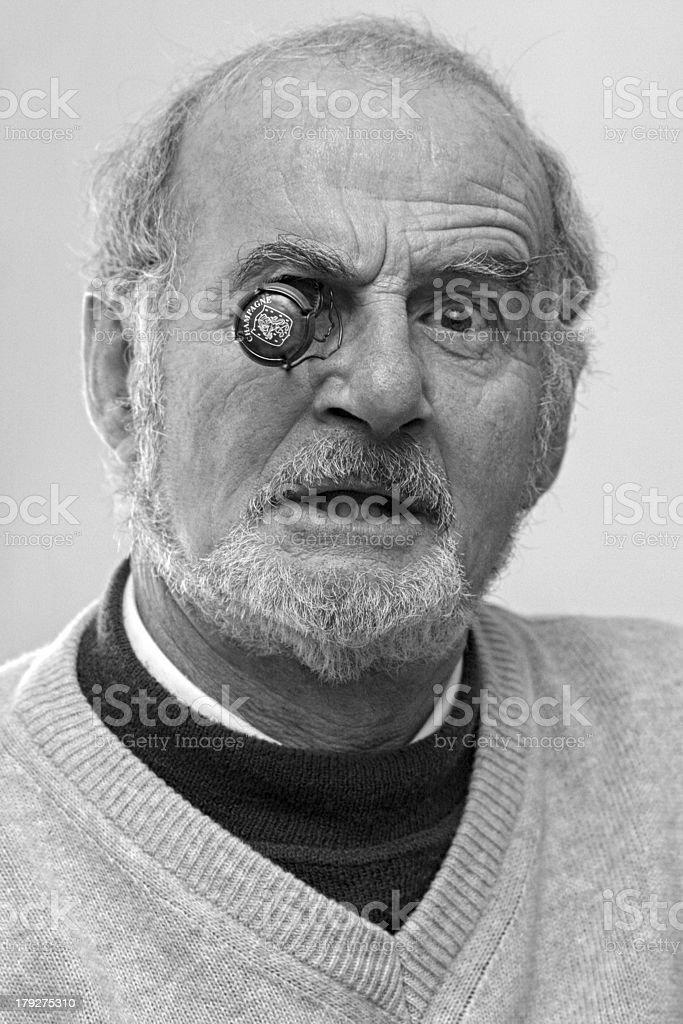 funny senior man royalty-free stock photo