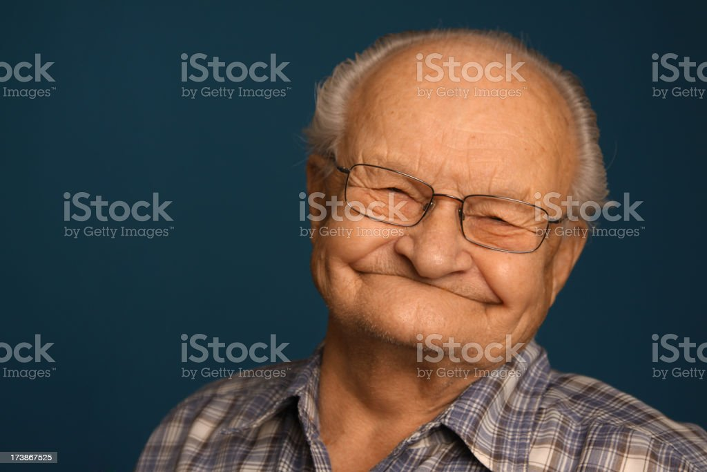 Funny Senior Smile royalty-free stock photo
