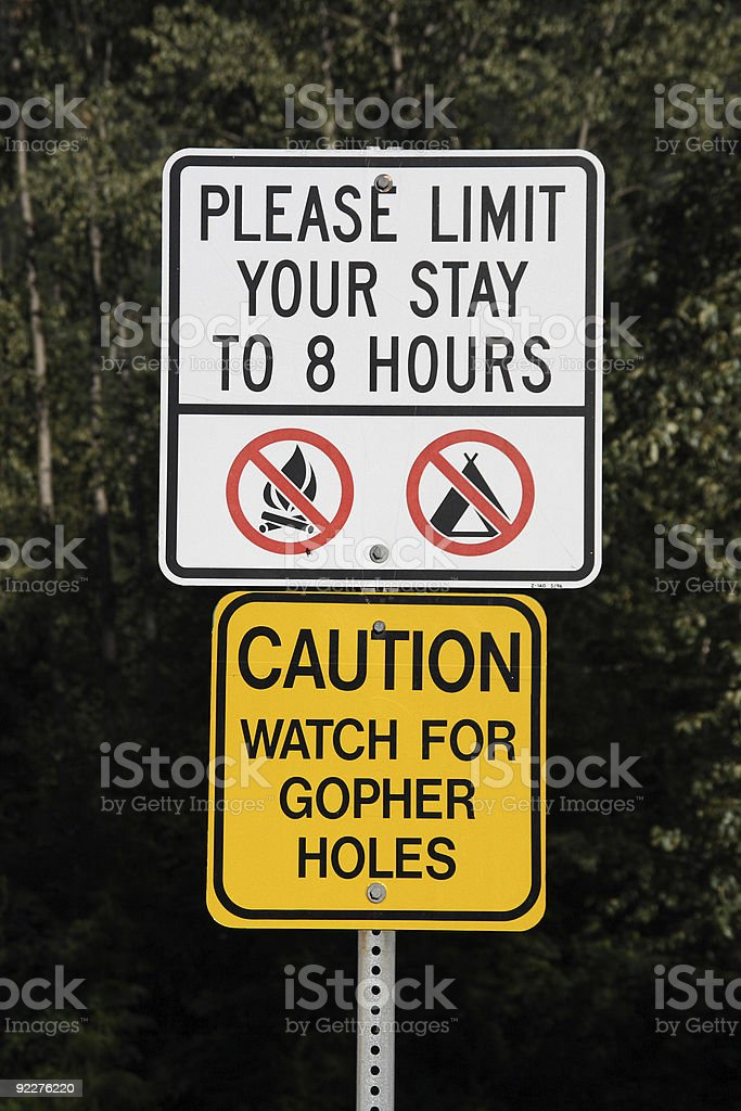 Funny sign stock photo