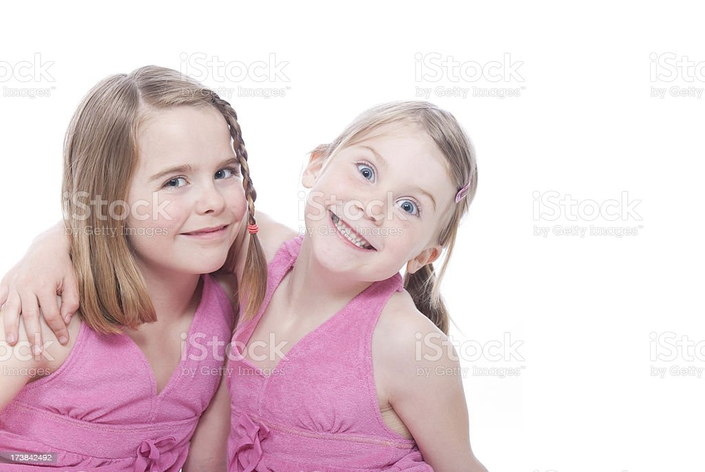 Funny Sisters royalty-free stock photo