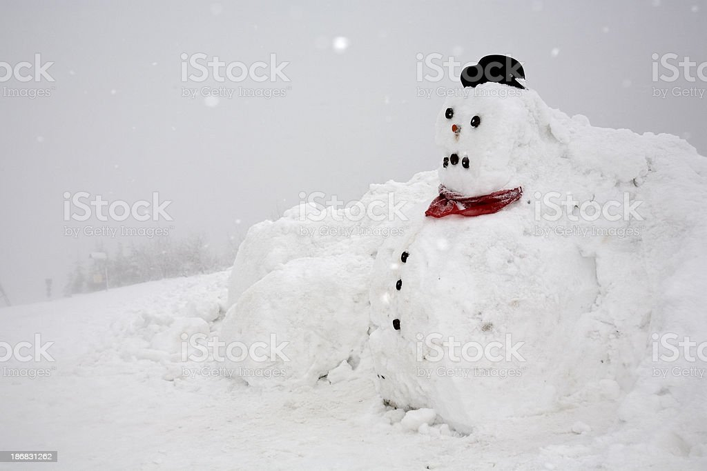 funny snow pile stock photo
