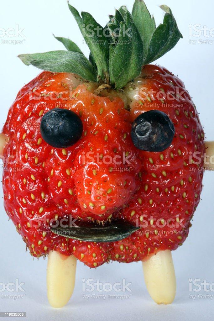 Funny Strawberry Portrait royalty-free stock photo