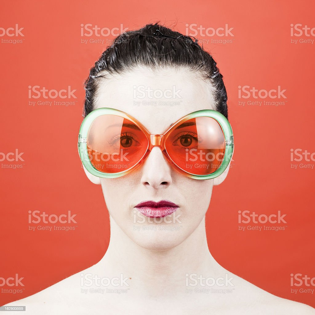 Funny sun glasses and eye protection. stock photo