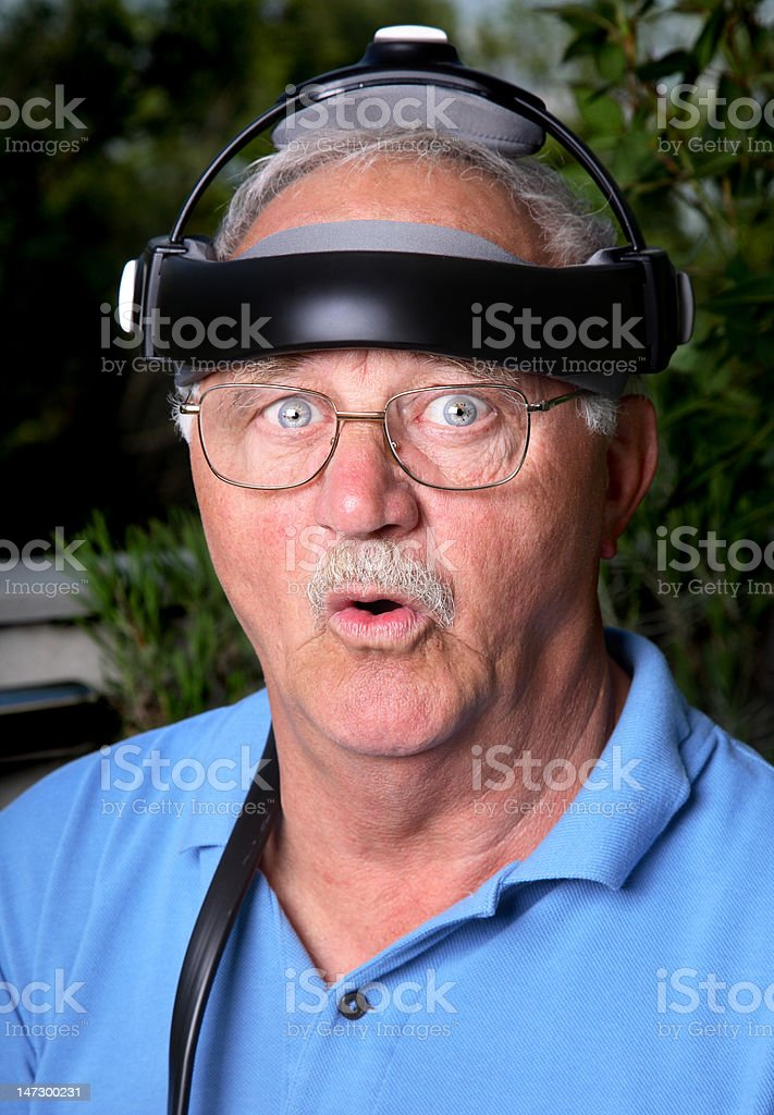 Funny surprise stock photo