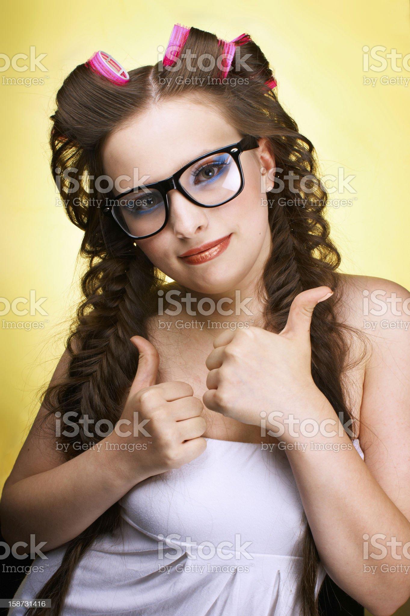 funny teenage royalty-free stock photo