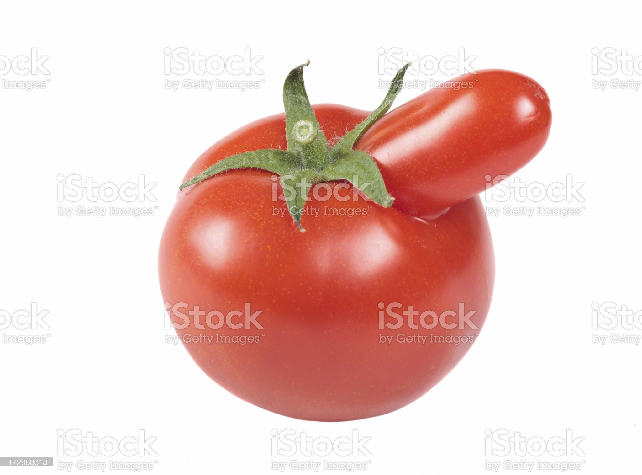 funny tomato royalty-free stock photo