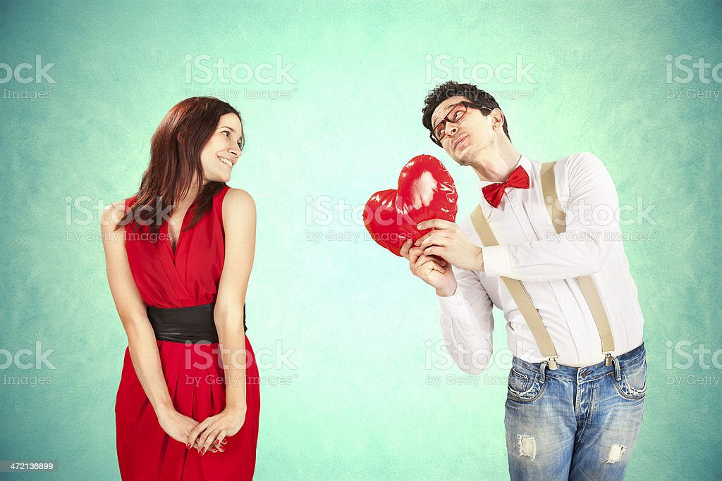 Funny Valentine's Day stock photo