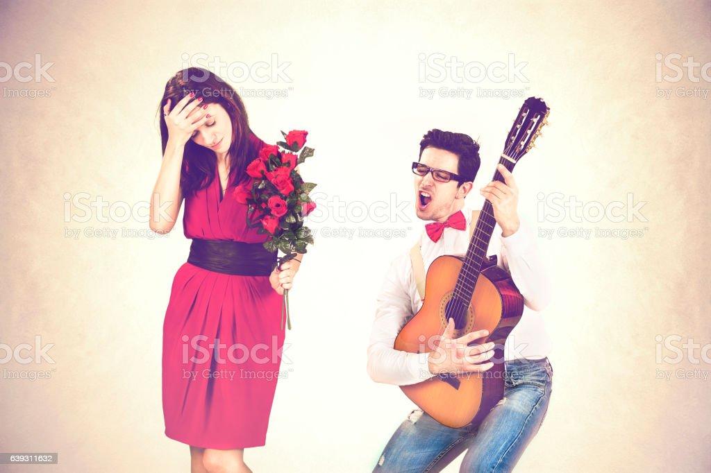 Funny Valentine's Day stock photo