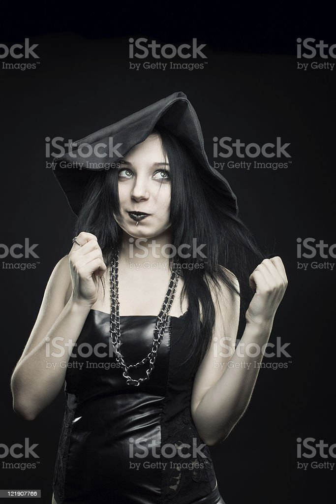 Funny witch stock photo