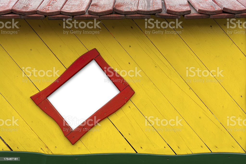Funny wooden house (CLIPPING PATH included) royalty-free stock photo