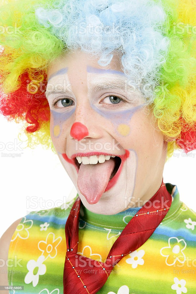 Funny young clown royalty-free stock photo