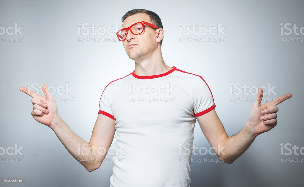 Funny young man stock photo