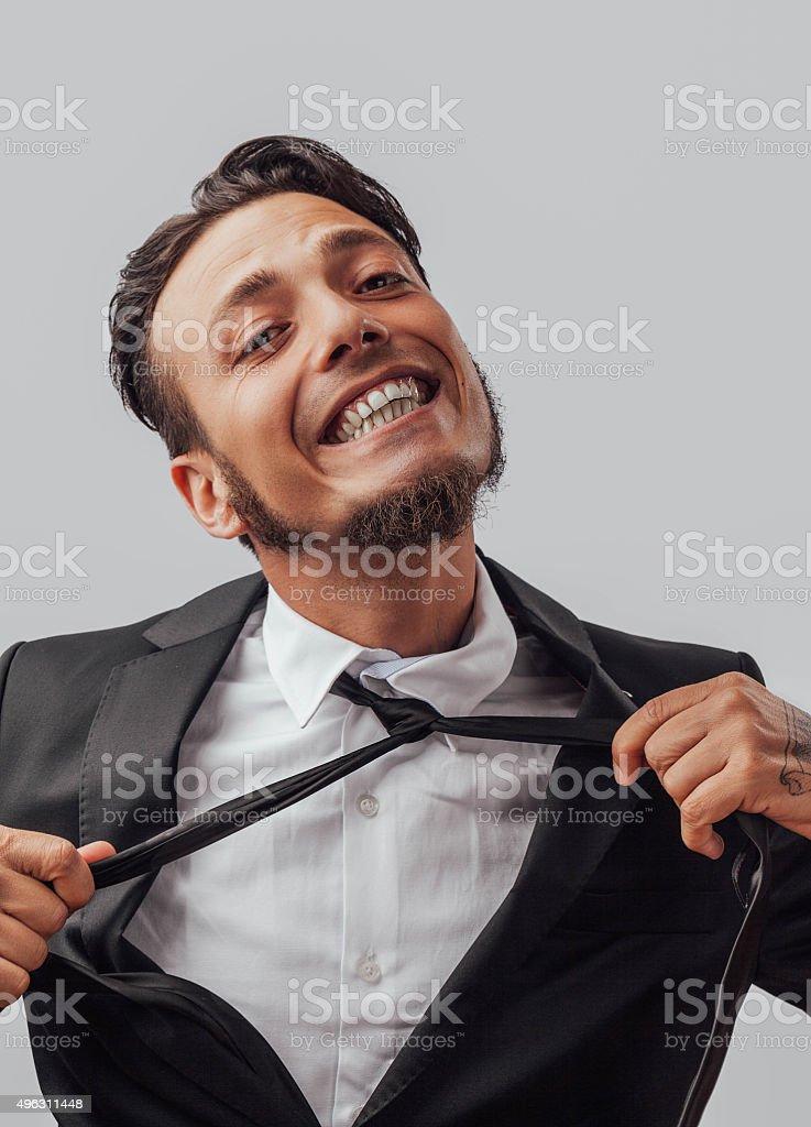 Funy  businessman stock photo