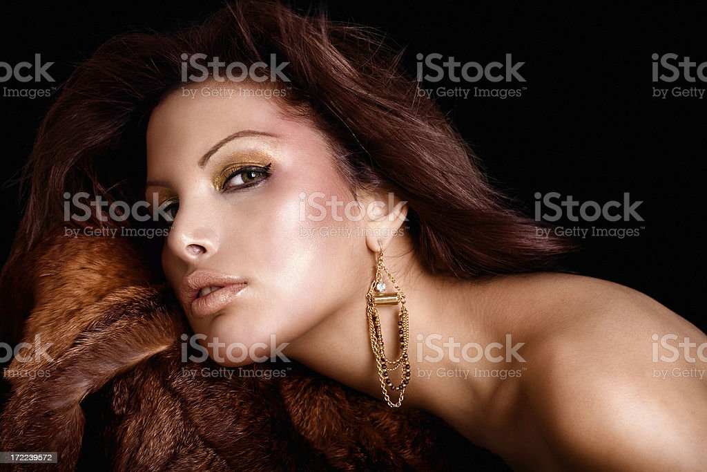 Fur And Beauty royalty-free stock photo